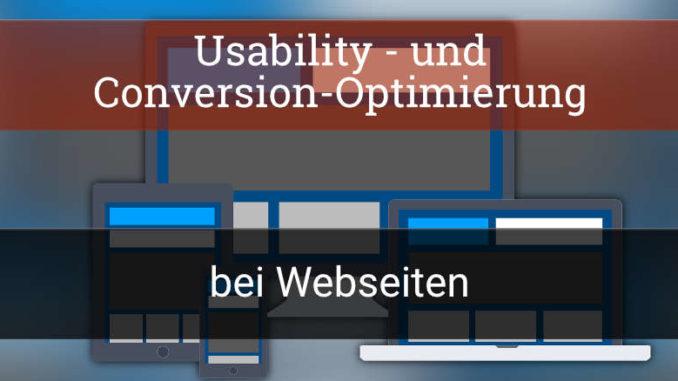 Usability und Conversion Optimierung bei Webseiten