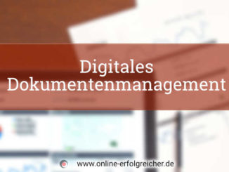 Titelbild digitales Dokumentenmanagement