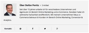Autoreninformation auf online-erfolgreicher