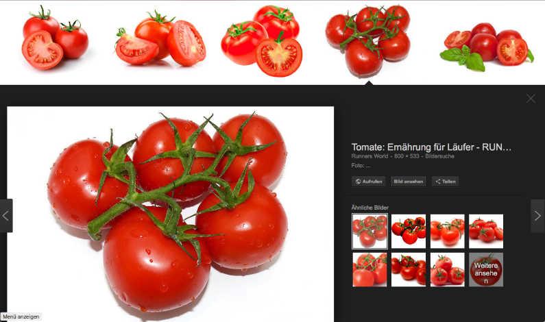 Google Bildersuche Beispielt Tomate