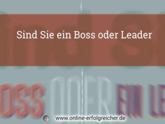 Sind Sie ein Boss oder Leader Titelgrafik
