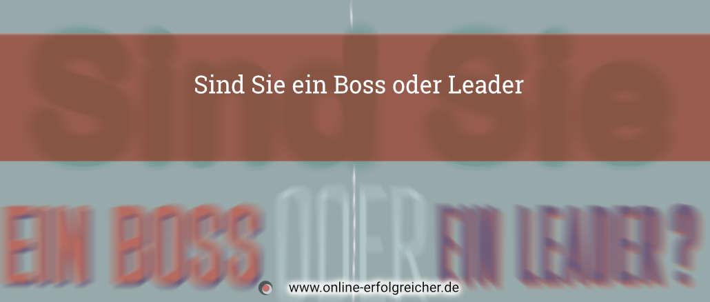 Sind Sie ein Boss oder Leader Title