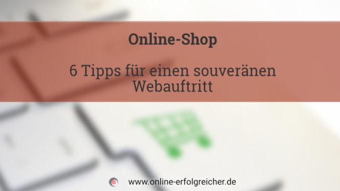 Titel Online-Shop 6 Tipps